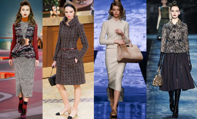 Left to right: Roksanda Illicinc, Chanel, Max Mara and Marc Jacobs