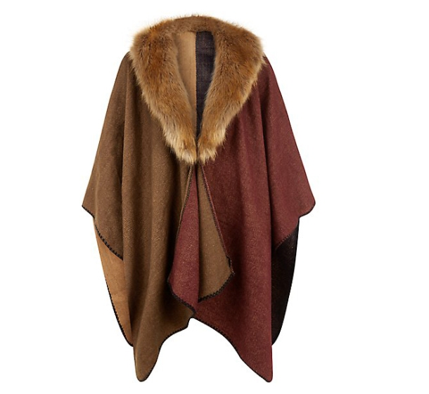 New Look fur collar blanket, £4.99