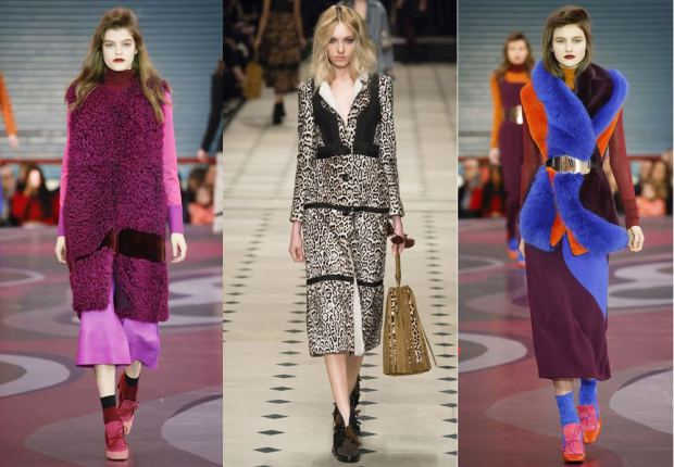 Left to right: Roksanda Illicinc, Burberry Prorsum and Roksanda again